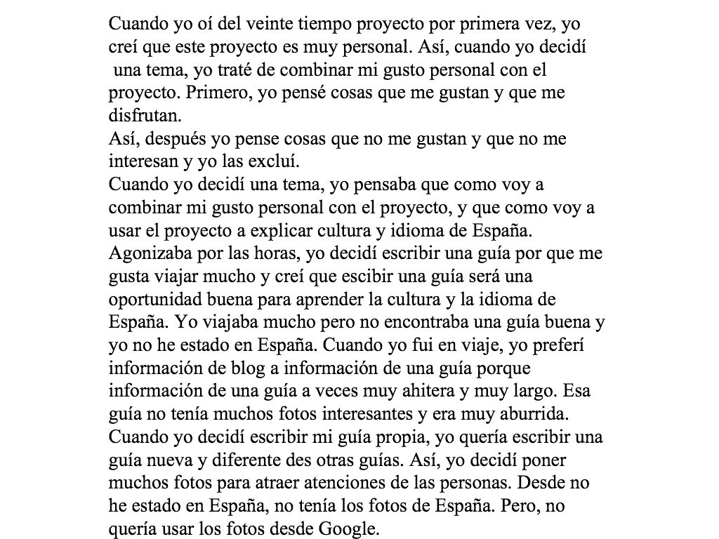 blog archives mi amada españa this is my essay that i wrote in spanish this is 1 page and half long and it was first time actually writing my personal essay in spanish